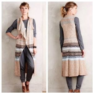 Anthropologie Sleeping in Snow Oullins Duster EUC